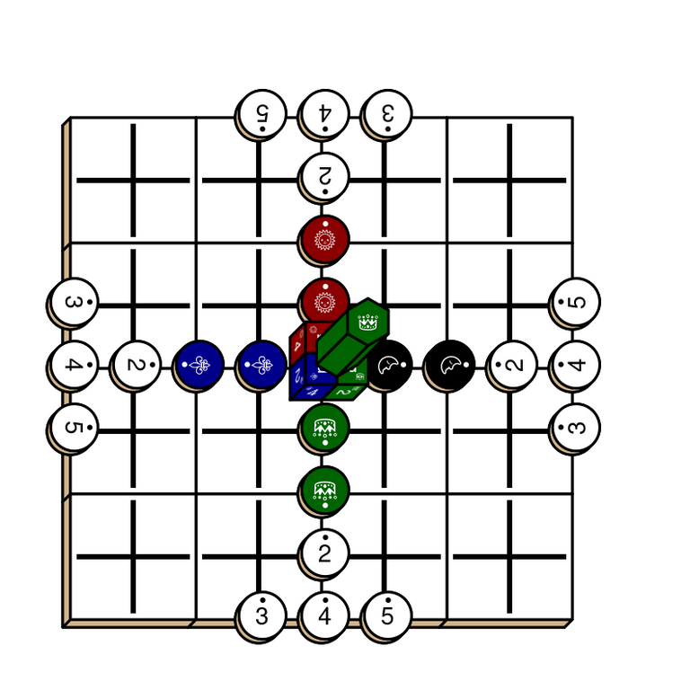 Diagram for a game of Tablut